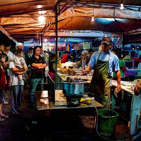 Pasar Malam Gadong by Mohamad Sa'at Haji Mokim - City,  Street & Park  Markets & Shops ( market, people )
