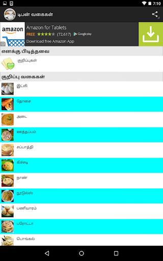 Tamil Nadu breakfast recipes