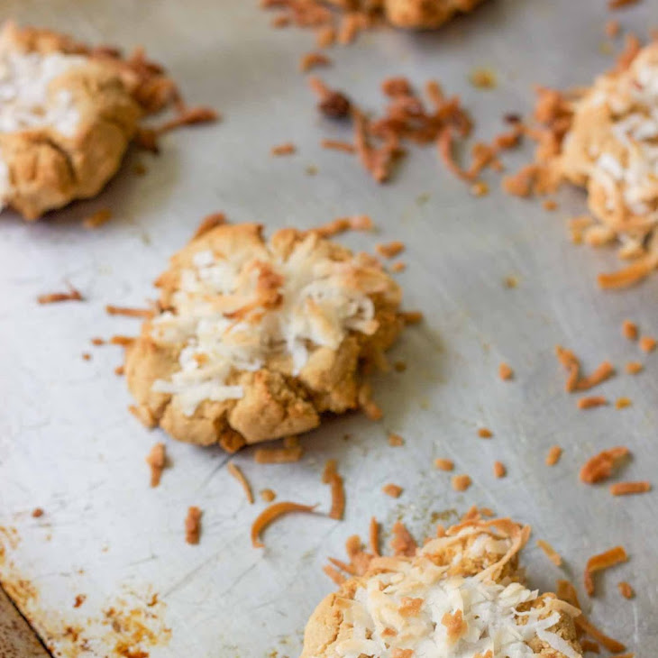 Smashed Coconut Peanut Butter Cookies Recipe