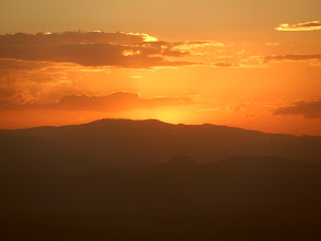 Photo: Sunset from the path to Asheten Maryam (above Lalibela)