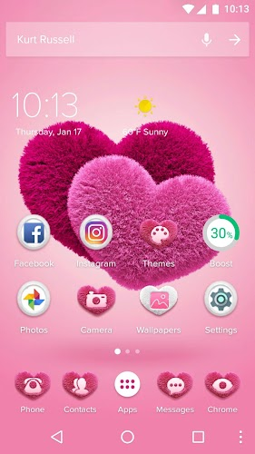 Download Pink Hearts 2018 Love Wallpaper Theme Apk Latest