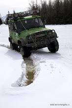 Photo: Внезапно под снегом проступает вода - близка опасность!