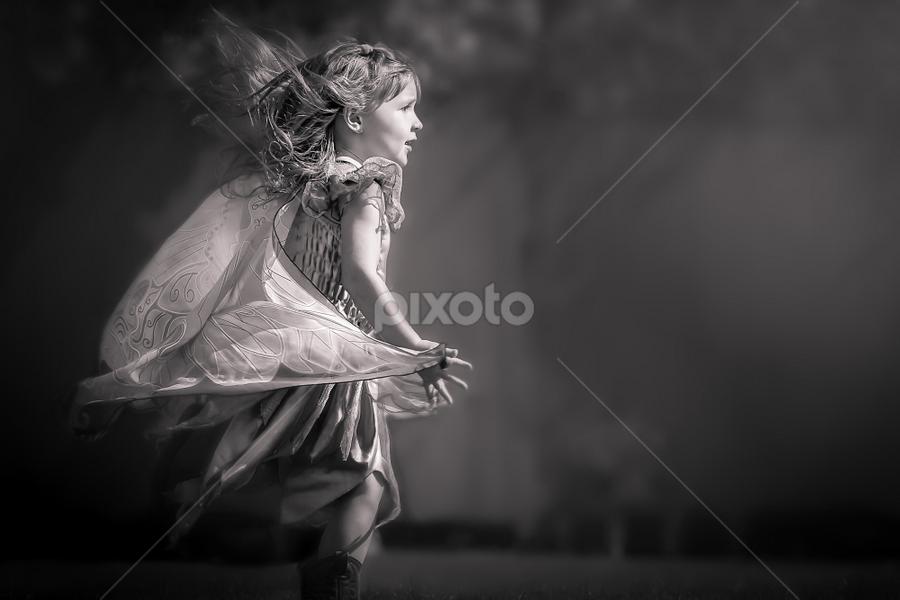 Fairy by Ken Bruce - Black & White Portraits & People ( b/w, fairy )