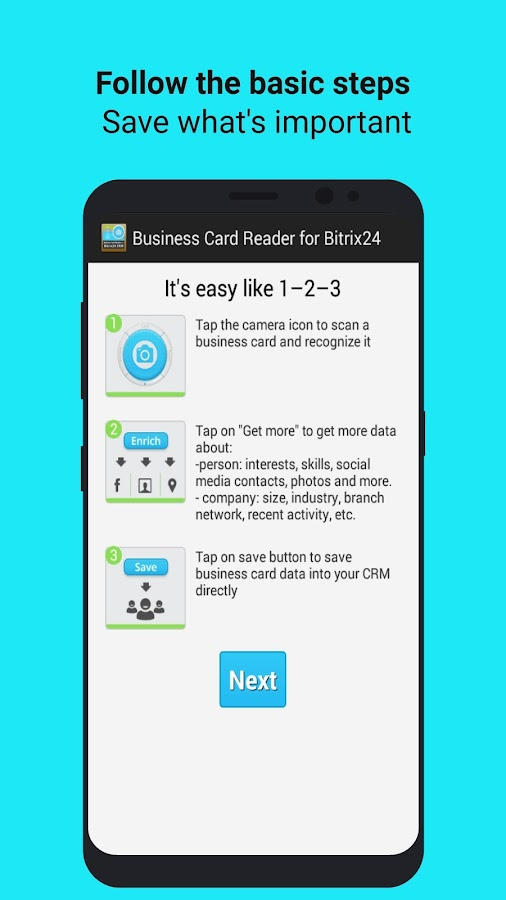 Business Card Reader Free for Bitrix24 CRM- screenshot