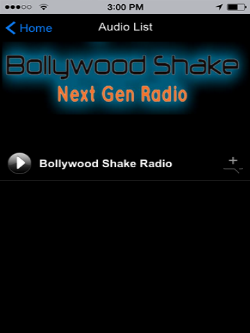 Bollywood Shake Radio- screenshot