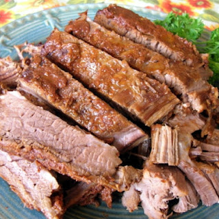 SMOKY BARBECUE BEEF BRISKET (CROCK POT)