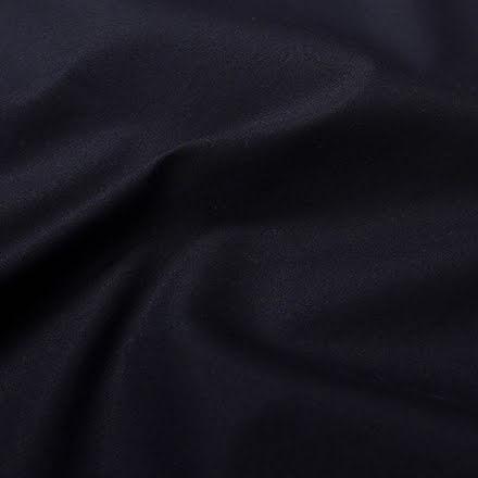Tunn Elastisk Bomullspoplin - mörkblå