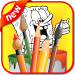 Kids Coloring Book: Bob Sponge