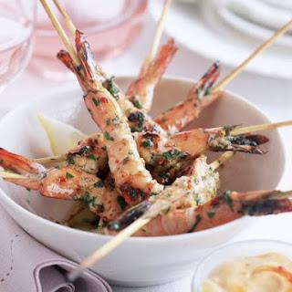 Shrimp Skewers with Spicy Dip