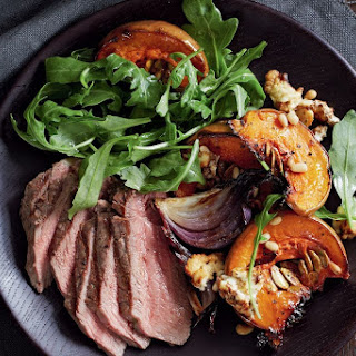 Rump Steak With Baked Pumpkin And Feta.
