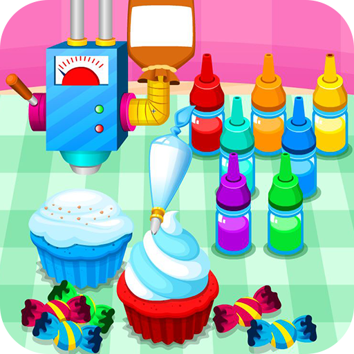 Cooking colorful cupcakes (game)