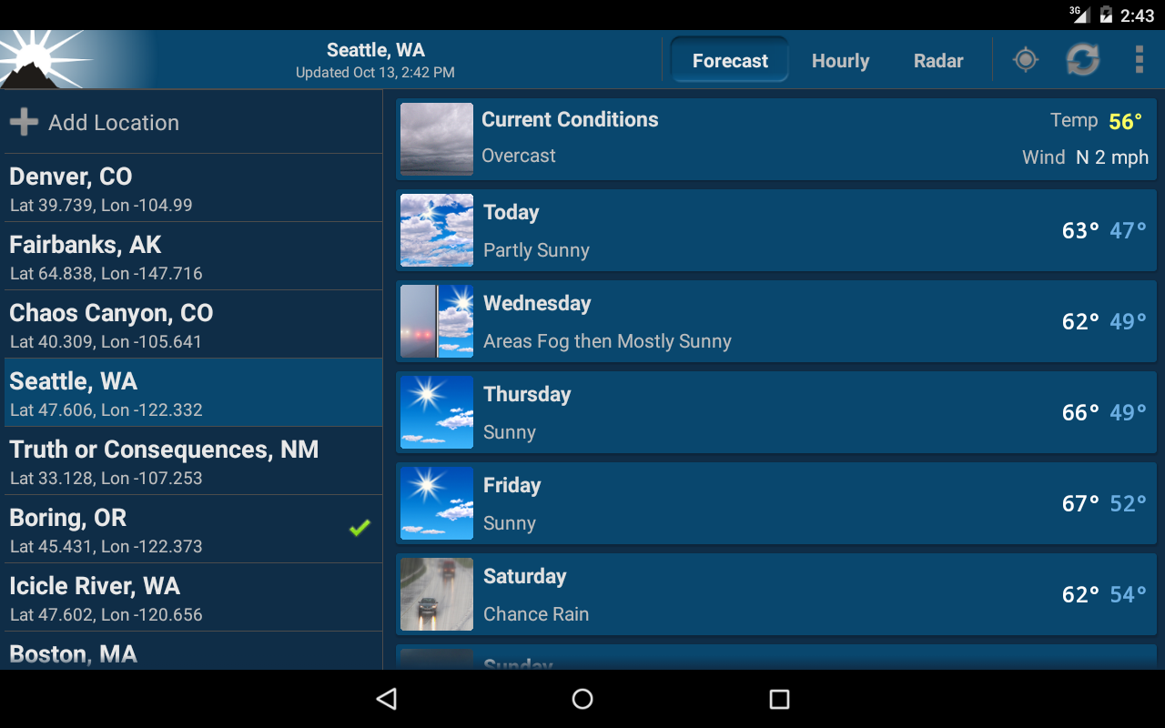 NOAA Weather Unofficial- screenshot