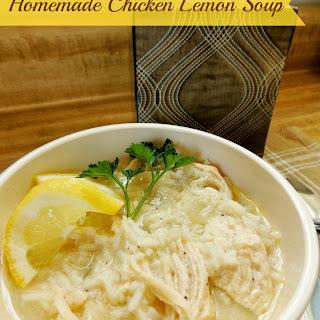 Homemade Chicken-Lemon Soup