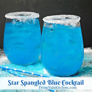 Star Spangled Blue Cocktail #Recipe.
