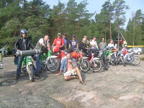 Photo: PaTun team Ahvenanmaalla,Sandösund 2010 valmiina kotimatkalle edessä Olof isäntä