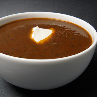 Roasted Red Pepper & Black Bean Soup