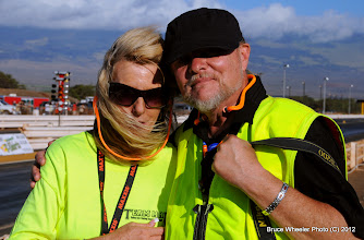 Photo: Pam 'n' Darrell Conrad, drag racing photographers visiting from California on the occasion of their 1st Wedding Anniversary.