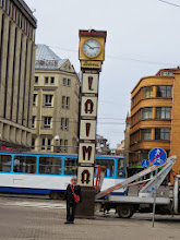 Photo: The Laima clock.  Laima is a confectioner