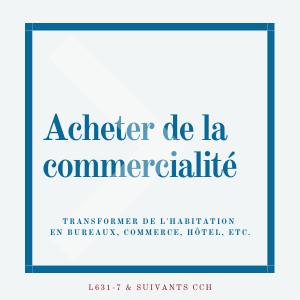 Acheter de la commercialité Paris