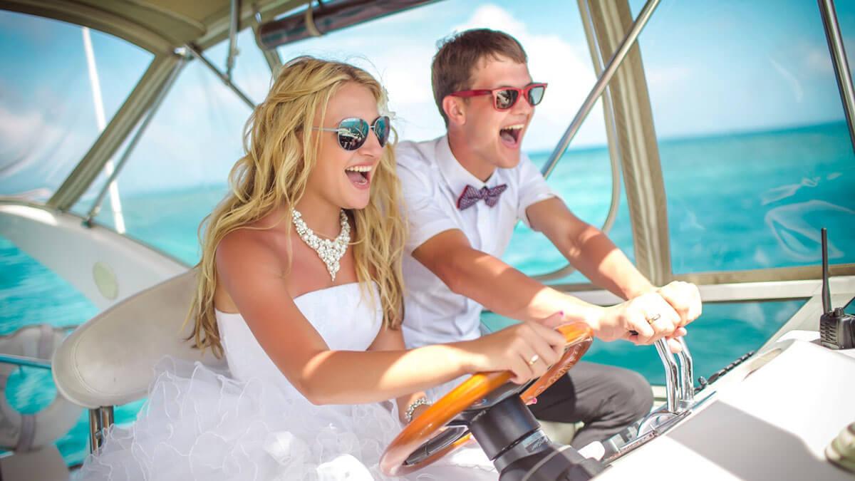 entertainment boat wedding