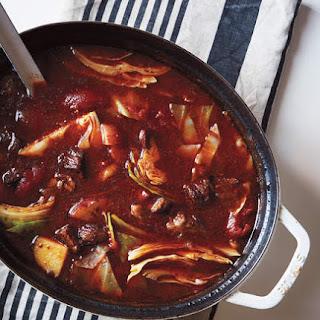 Irish Beef, Cabbage, and Potato Soup Recipe