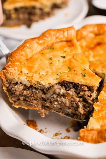 Tourtiere (Meat Pie) - Spend With Pennies