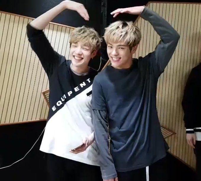Stray Kids Bang Chan and Woojin