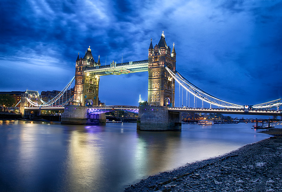 Tower Bridge by Abdul Rehman - City,  Street & Park  Historic Districts ( uk, sky, night photography, london, tower bridge, long exposure, nightscape,  )