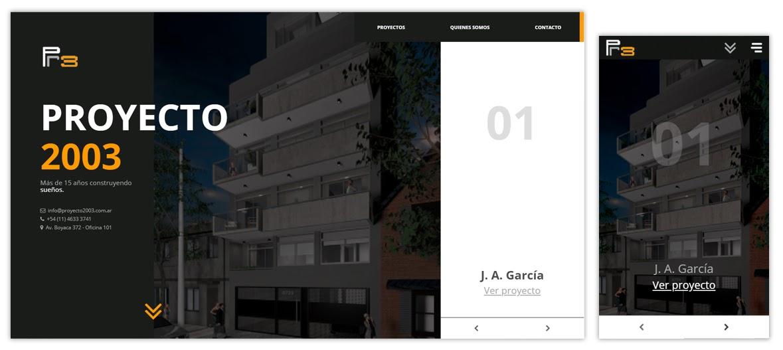 Sitio web Proyecto 2003