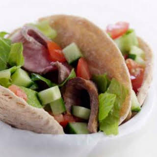 Steak Salad-Stuffed Pockets.