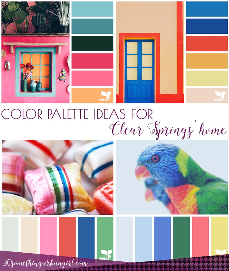 Color palette ideas for Clear Springs' home decoration