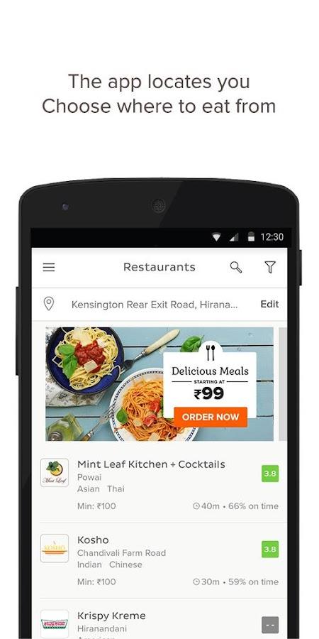 TinyOwl Food Ordering- screenshot