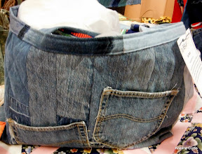 """Photo: #86-W, Sue Patch, """"Recycled Denim Tote"""""""