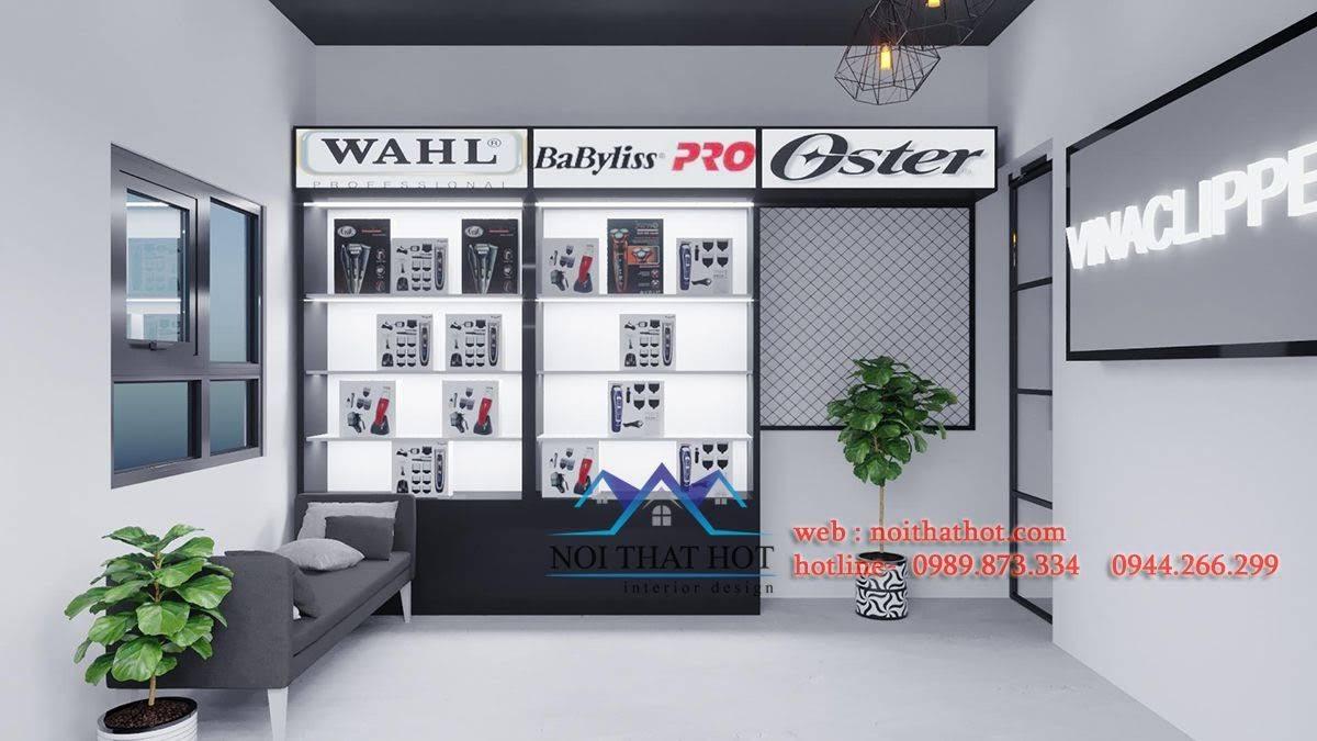 thiết kế cửa hàng phụ kiện ngành tóc
