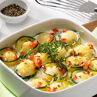 Zucchini-Knödel-Gratin