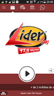Rádio Líder FM Viçosa- screenshot thumbnail