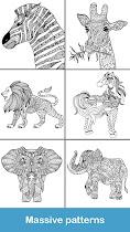 Coloring pages:Animals Mandala - screenshot thumbnail 07