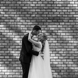 Shadows by George Ungureanu - Wedding Bride & Groom