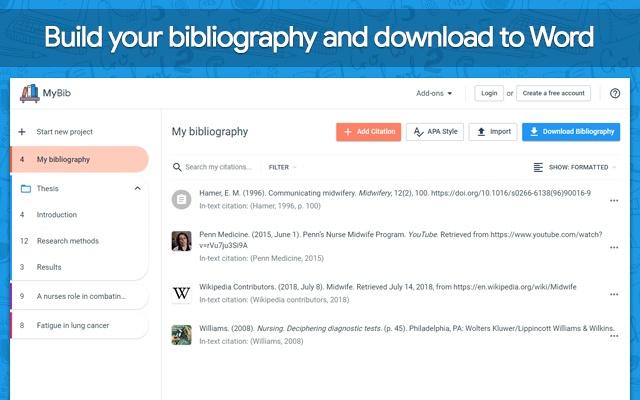 mybib free citation generator chrome web store
