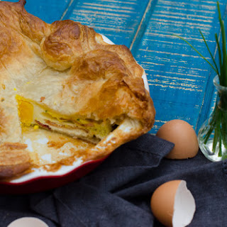 English Egg and Bacon Pie