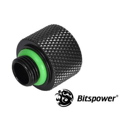 "Bitspower adapter, 1/8""BSP til 1/4""BSP, Matt Black"
