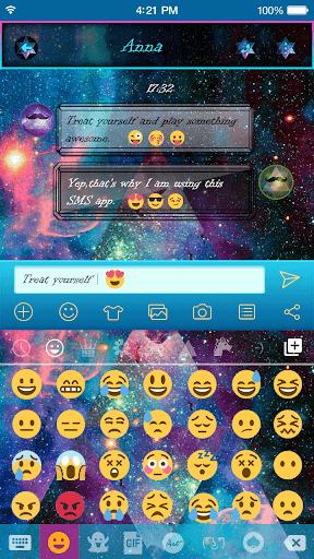 Galaxy Hipster Emoji Keyboard Screenshot