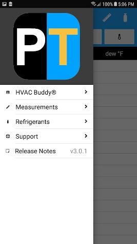 HVAC Buddy® Refrigerant Press Screenshot