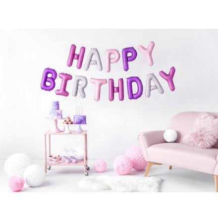 Folieballong - Happy birthday, mix