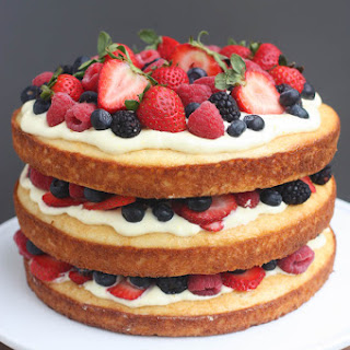 Berry Cake with Lemon Cream Mousse