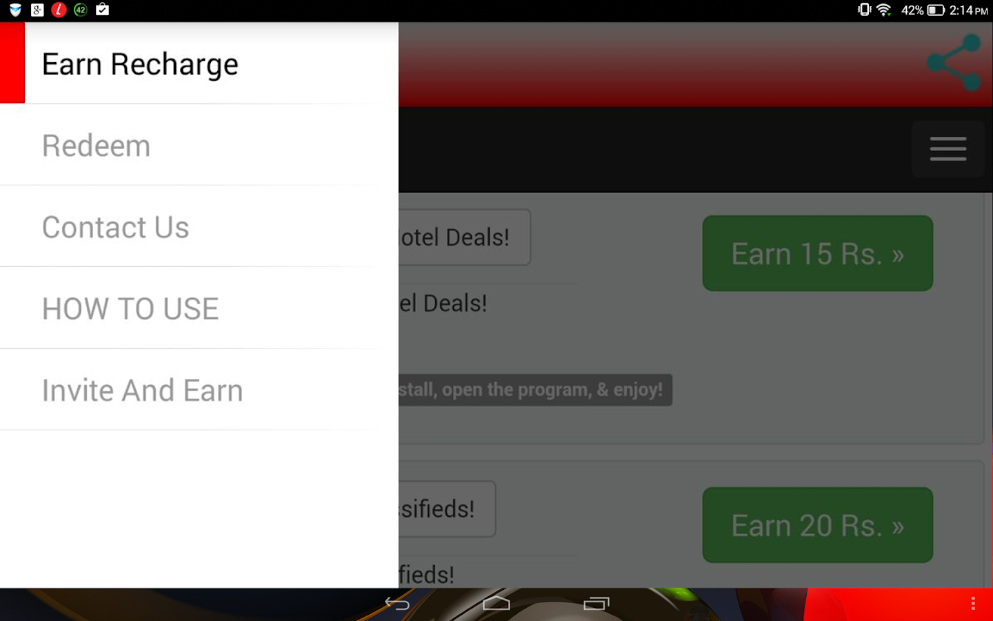 Screenshots of Free Rs.200 Mobile Recharge for iPhone