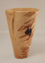 """Photo: Tim Aley 9 1/2"""" x 7"""" vase [hickory]"""