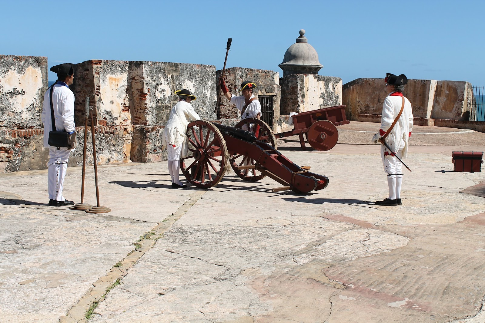 Ancient cannons in Puerto Rico