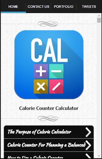 卡路里計數器計算器