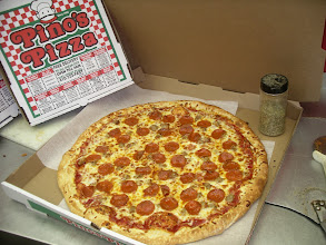 """Photo: Pepperoni with ZeStY OlD WoRlD ItALiAn SaUsAgE.  This is a 20"""" big boy.  I named all 20"""" pies, the NYC size."""